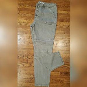 Mossimo Gray High Rise Moto Jegging Skinny Jean 34